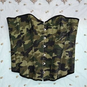 Women's Camouflage Bustier Size XL